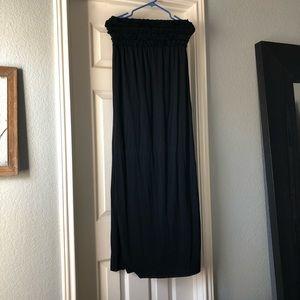 Black Strapless Maxi Dress